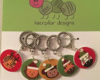 CLEARANCE Jungle Bells - Snagless Stitch Markers