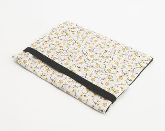 two-tone fabric notebook cover