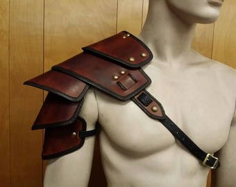 Leather Armor IN STOCK Sentinel segmented shoulder