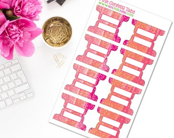 Pink Confetti Planner Tabs