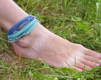 Ankle Boho Bracelet, Turquoise Ankle Bracelet, Beach Jewelry, Ocean Inspired, Summer Jewelry, Women Ankle Bracelet