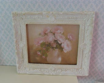 Dollhouse framed flower picture