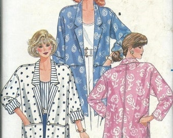 ON SALE Misses Jacket and Top Pattern, Butterick 4758, Sizes 8-12 & 14-16 UNCUT
