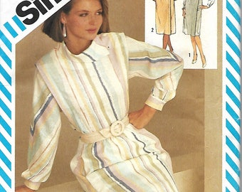 Simplicity 6269 Henry Grethel, Misses Two-Piece Flanged Dress Pattern, Top & Skirt, Size 8, UNCUT