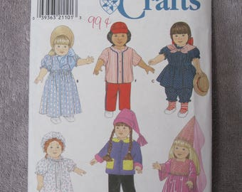 18 inch Doll Clothes, Simplicity 7949/0649, baseball outfit, princess with veiled hat, Victorian nautical, colonial, fleece hat and jacket +