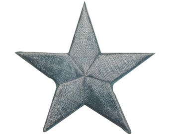 ID 3437 Blue Star Patch Symbol Space Night Sky Embroidered Iron On Applique