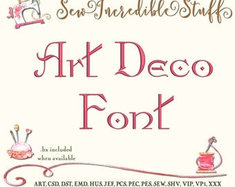 Art Deco  Machine Embroidery Font
