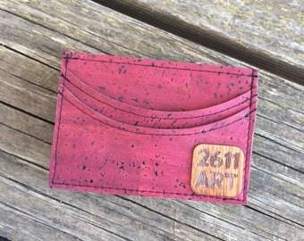 Cork Money Clip • RFID Wallet • Vegan Leather Money Clip • Vegan Money Clip • Cork Wallet •Cork Slim Wallet with Money Clip