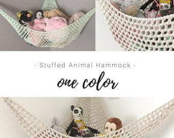 Toy Hammock / Pick Your Color / Personalized Nursery / Toy Organization / Baby Room / Custom Stuffed Animal Holder / Solid Plain