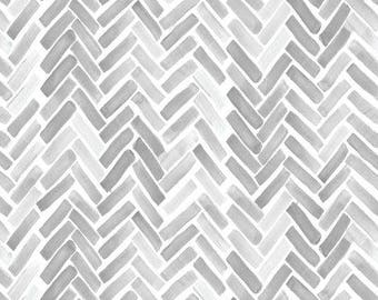 Crib Skirt Gray Watercolor Herringbone. Baby Bedding. Crib Bedding. Crib Skirt Boy. Baby Boy Nursery. Gray Crib Skirt. Chevron Crib Skirt.