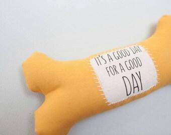 Yellow mustard bone shaped mouse wrist rest