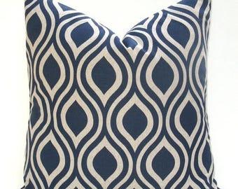 15% Off Sale Blue Pillow Decorative Pillow Cover Blue Tan Pillow - Throw Pillow Cover - Pillows Home Decor Housewares Accent Pillow  Toss pi