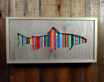 Wooden Silhouette Artwork - Trout