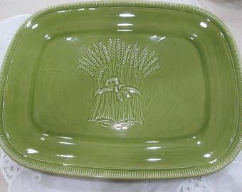 Franciscan Platter Green Wheat Platter