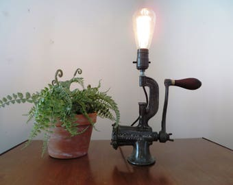 Lamp - Recycled Meat Grinder - Unique Vintage Upcycled
