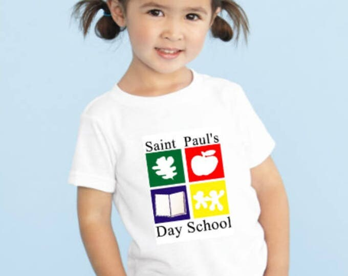 Custom Tee Shirts for St. Paul's Day School - 52 Shirts Total