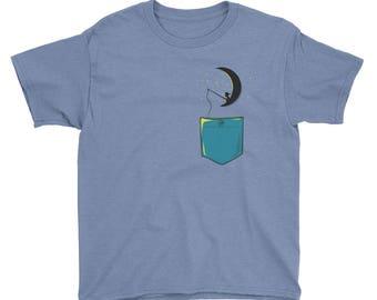 Kid on the moon Youth Short Sleeve T-Shirt