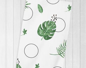 Monstera Leaf, Beach Towel, Palm, Beach Blanket, Beach Towels Bachelorette, Monstera, Cute Towel, Bridal Shower, Gift for Her