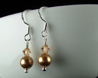 Swarovski Pearl and Swarovski Earrings