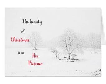 Snowy Photographic Scene Greeting Card