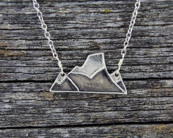 Handmade Sterling Silver The Fortress Mountain Necklace
