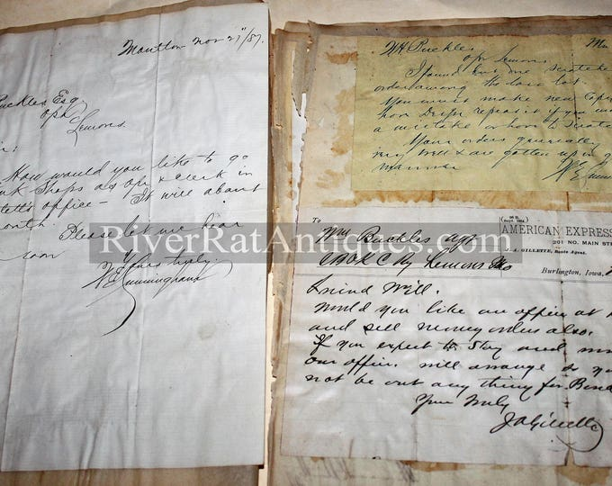 Antique 1880s Documentation and Letters from Railroads and Railways