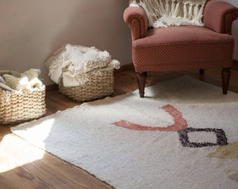 Tribal pattern rug throw blanket, Decorative Floor wall hang art, Primitive artwork totem pole, Geometric Abstract Aztec Navajo decor