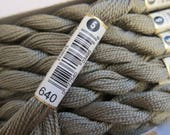 Very Dark Beige Gray #640, DMC Perle Cotton, Size 5 - 25m Skeins - Available in Single Skeins, Larger Pkgs and Full (12 skein) Boxes
