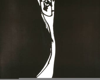Antonio Saura-Muerta Al Apartheid-1982 Poster