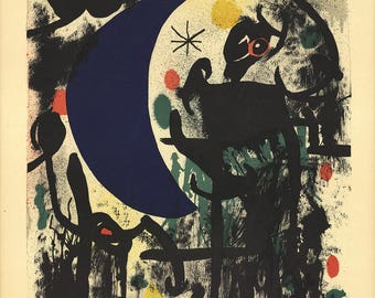 Joan Miro-Untitled (From Album 19)-1961 Lithograph