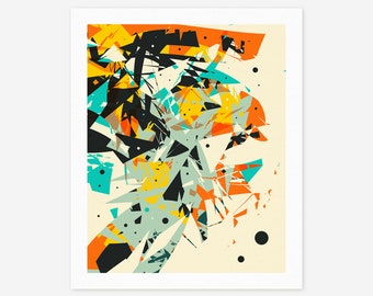 CRASH 6 (Giclée Fine art Print) Modern Abstract Wall Art
