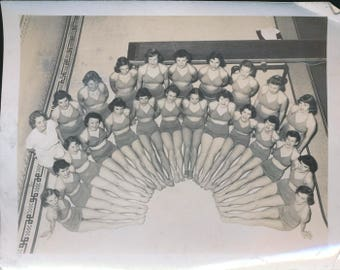 vintage ladies' swim team photo, 1950's