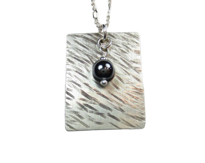 Texture #1 - Dog Tag With 6 mm Bead