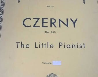 Czerny - The Little Pianist Music Book Piano Booklet - Sheet Music Schirmers Library Op 823 1930