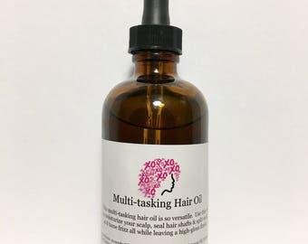 Multi-tasking hair oil