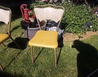 Kitchen Chair Vintage, Vintage Kitchen Chair, Med Century Kitchen Chair, Vintage Chair, Metal Framed Kitchen Chair,
