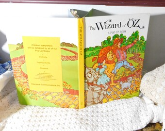 The Wizard of Oz Pop Up Book Intervisual Communications 1995, Vintage Pop Up Book, Vintage Children's Book, Vintage Book, :)s*