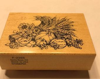 large Harvest decor rubber stamp, 40 x 60 mm (BB1/1)