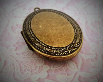 "Ready to Fill (Empty) Solid Perfume Locket, ""Katherine Rose""   SKU: B1587"