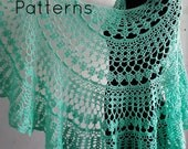 Crochet shawl pattern, lace shawl crochet pattern, crochet crescent shawl, semicircle shawl pattern, Tiffany shawl, pattern no. 117