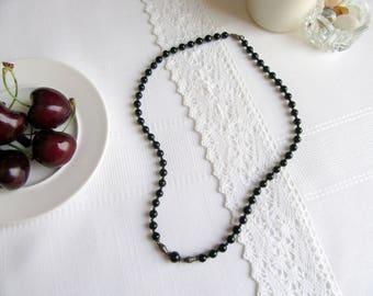 India Black Onyx Necklace.