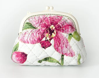 6.5'' clutch Bag - Orchid, White