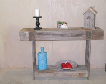Foyer Table, Sofa Table, Rustic table, Reclaimed wood table