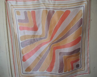 vintage 1980s acetate twill scarf Avon made in Japan abstract  25 x 26  inches