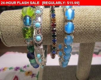 lot of vintage bracelets, fun bracelets, hippie, boho, retro lot 15
