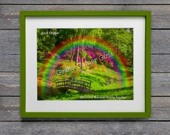 Rainbow Bridge Custom print for pet bereavement