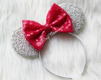 BERRY Mouse Ears Headband. Princess Mouse Ears Headband. Girl Mouse Ears Headband. Women Disney Headband. One Size Fits Most.
