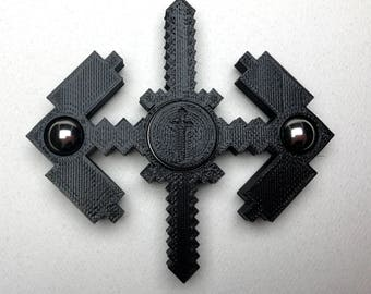 Mind Craft Fidget Spinner - Sword and Axe - 3D printed toy