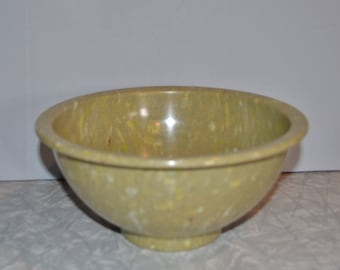 Texas Ware Confetti Splatter Mixing Bowl 111 ~ Vintage Green Mixing Bowl