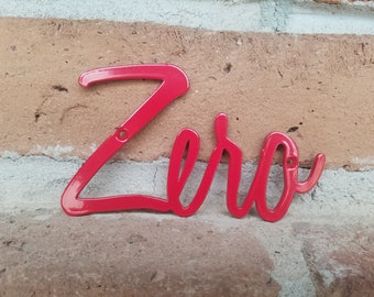Script Red House Numbers,House Numbers,Metal Numbers,Address,MCM,Mid Century,Red Numbers,Modern,Outdoor,Script,House Warming,Gift